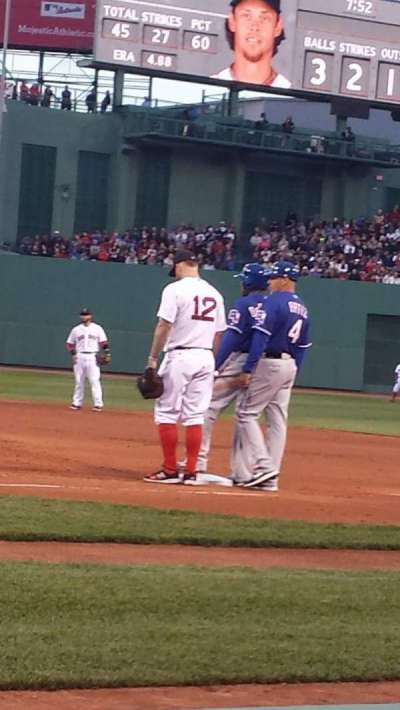 Fenway Park, section: Field Box 31, row: A, seat: 2