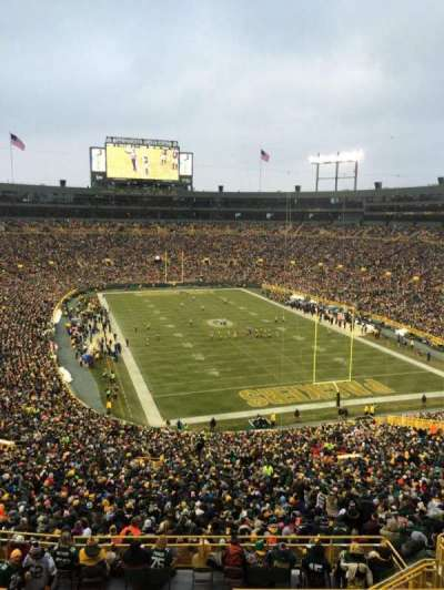 lambeau field, section: 434s, row: SRO