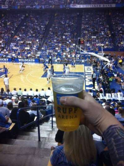 Rupp Arena, section: 12, row: H, seat: 1