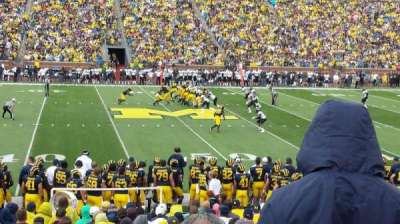 Michigan Stadium, section: 24, row: 22, seat: 24