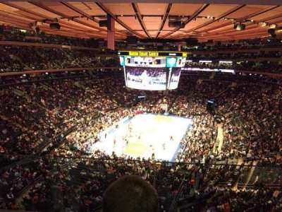 Madison Square Garden, section: 417, row: 2, seat: 7