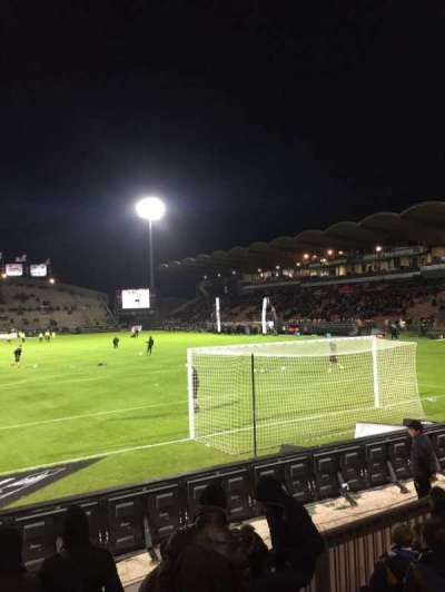 Stade Jean Bouin, section: Coubertin, row: F, seat: 125