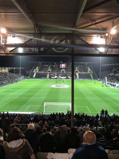 Stade Raymond Kopa, section: Coubertin, row: AG, seat: 92