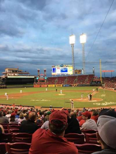 Great American Ball Park, section: 120, row: CC, seat: 7
