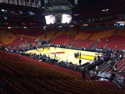 American Airlines Arena, section: 104, row: 23, seat: 03