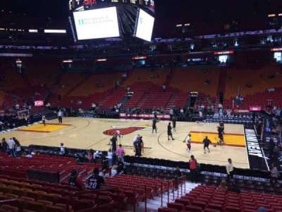 American Airlines Arena, section: 117, row: 19, seat: 17