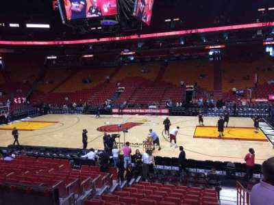 American Airlines Arena, section: 118, row: 15, seat: 01