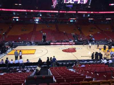 American Airlines Arena, section: 119, row: 16, seat: 12