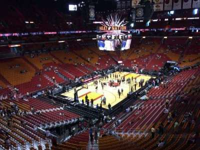 American Airlines Arena, section: 329, row: 1, seat: 13