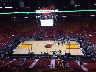 American Airlines Arena, section: 324, row: 02, seat: 16