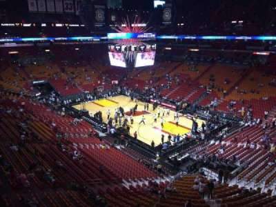 American Airlines Arena, section: 320, row: 2, seat: 14