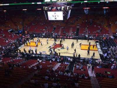 American Airlines Arena, section: 308, row: 1, seat: 4