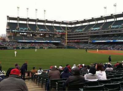 Progressive Field, section: 175, row: P, seat: 1