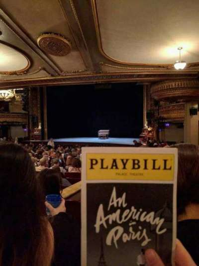 Palace Theatre (Broadway), section: Orchestra Right, row: S, seat: 6