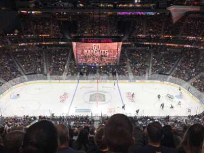 T-Mobile Arena, section: 205, row: M, seat: 10