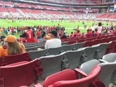 University of Phoenix Stadium, section: 134, row: 13, seat: 15