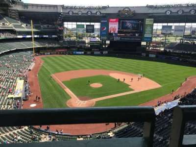 Miller Park, section: 420, row: 1, seat: 8