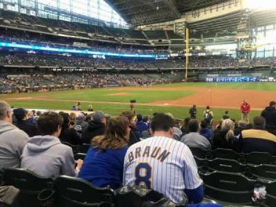 Miller Park, section: 112, row: 15, seat: 18