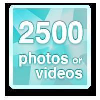 Share 2500 photos or videos