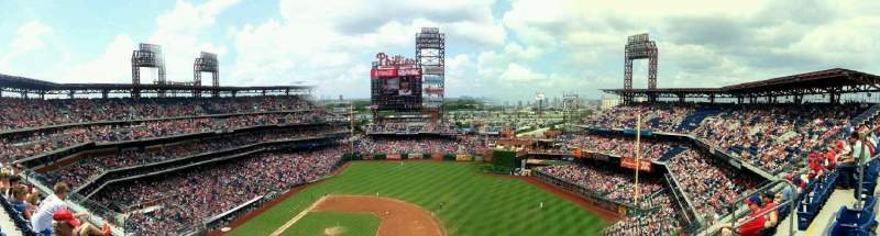 Seating view for Citizens Bank Park Section 414 Row 4 Seat 7