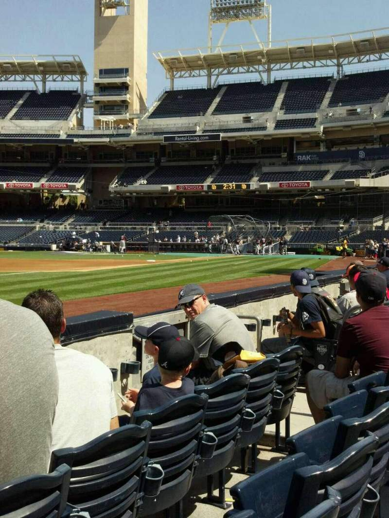 Seating view for PETCO Park Section 116 Row 3 Seat 9