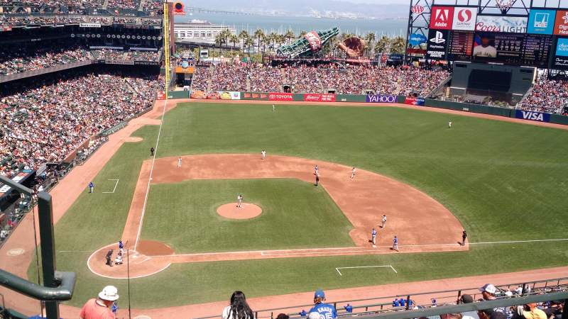 Seating view for AT&T Park Section 310 Row 1 Seat 18
