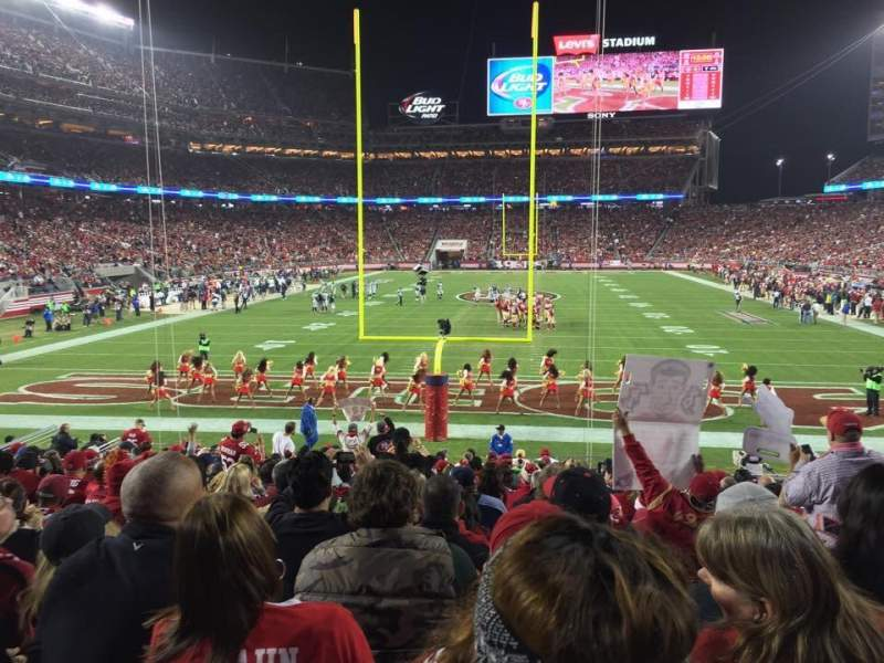 Seating view for Levi's Stadium Section 103 Row 17 Seat 3