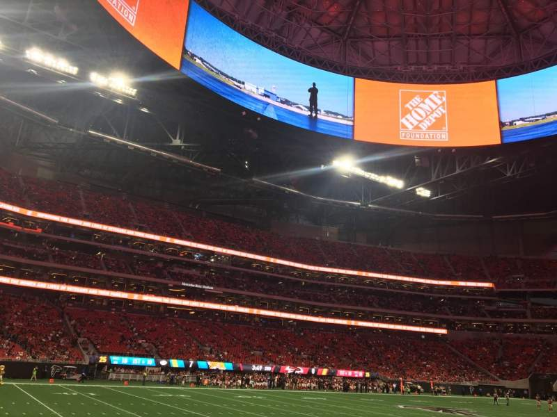 Seating view for Mercedes-Benz Stadium Section 132 Row 4 Seat 15