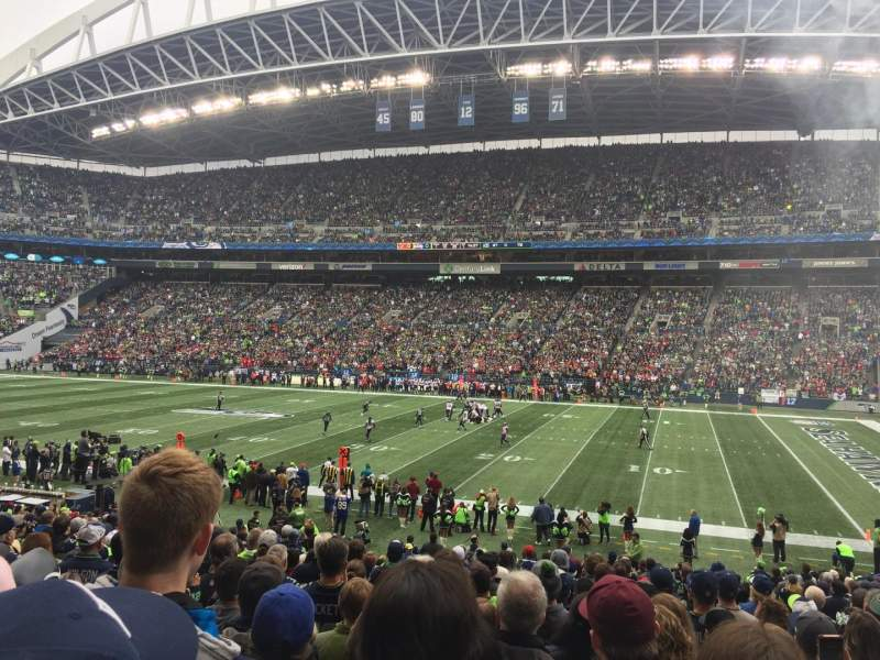 Seating view for CenturyLink Field Section 132 Row Z Seat 5