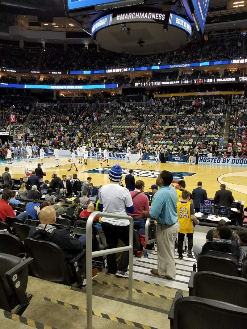 PPG Paints Arena, section: 101, row: J, seat: 14