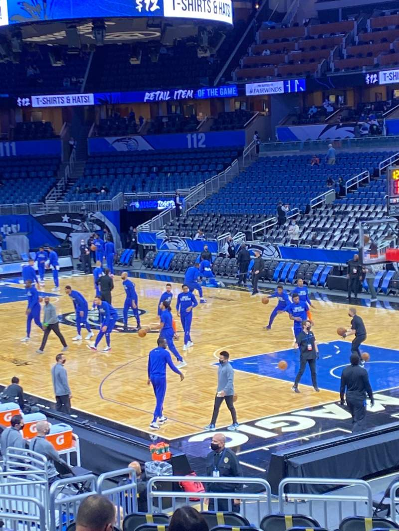 Seating view for Amway Center Section 103 Row 17 Seat 4