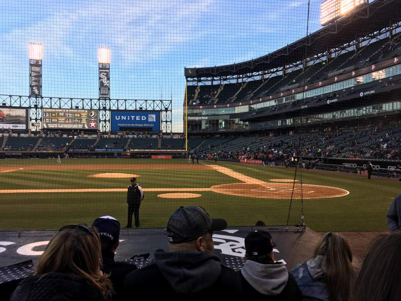 Seating view for Guaranteed Rate Field Section 137 Row 8 Seat 4
