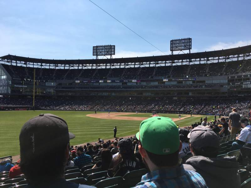 Seating view for Guaranteed Rate Field Section 154 Row 29 Seat 3