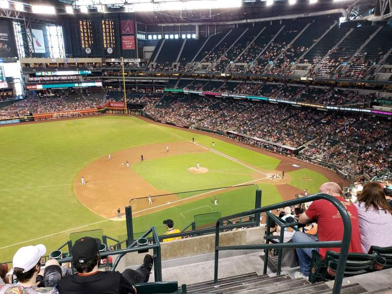 Chase Field, section: 321, row: 10, seat: 1