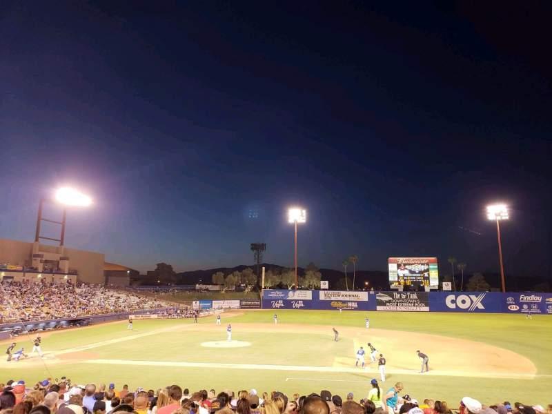 Cashman Field, section: 17, row: U, seat: 17