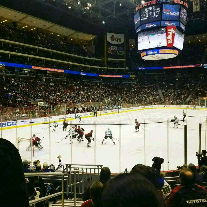 Gila River Arena, section: 115, row: K, seat: 13