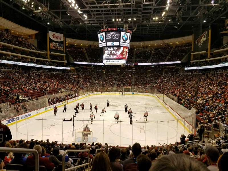 Seating view for Gila River Arena Section 116 Row R Seat 22