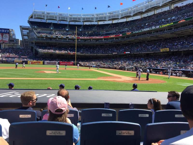 Seating view for Yankee Stadium Section 023 Row 4 Seat 8