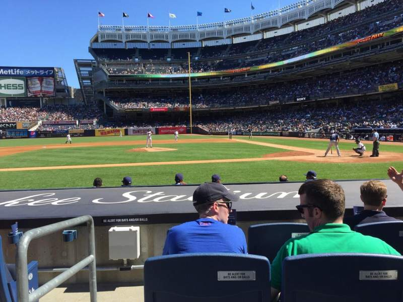Seating view for Yankee Stadium Section 023 Row 4 Seat 12
