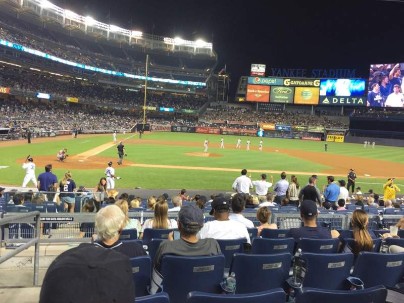 Seating view for Yankee Stadium Section 117A Row 17 Seat 16