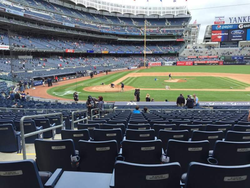 Seating view for Yankee Stadium Section 117A Row 13 Seat 9