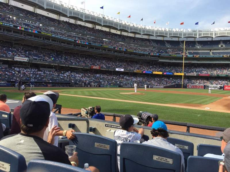 Seating view for Yankee Stadium Section 015A Row 4 Seat 8