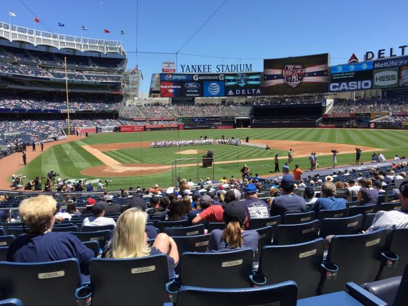 Seating view for Yankee Stadium Section 118 Row 13 Seat 6