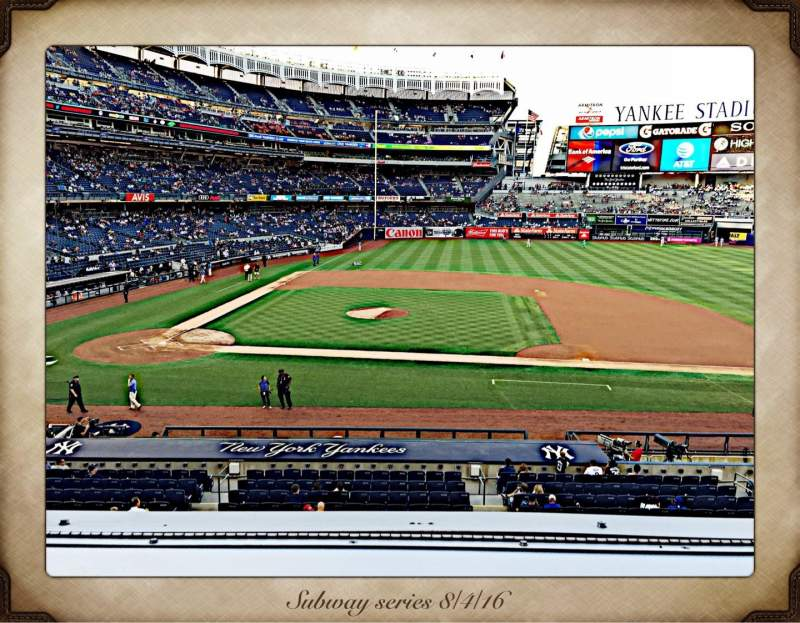 Seating view for Yankee Stadium Section 216 Row 1 Seat 7