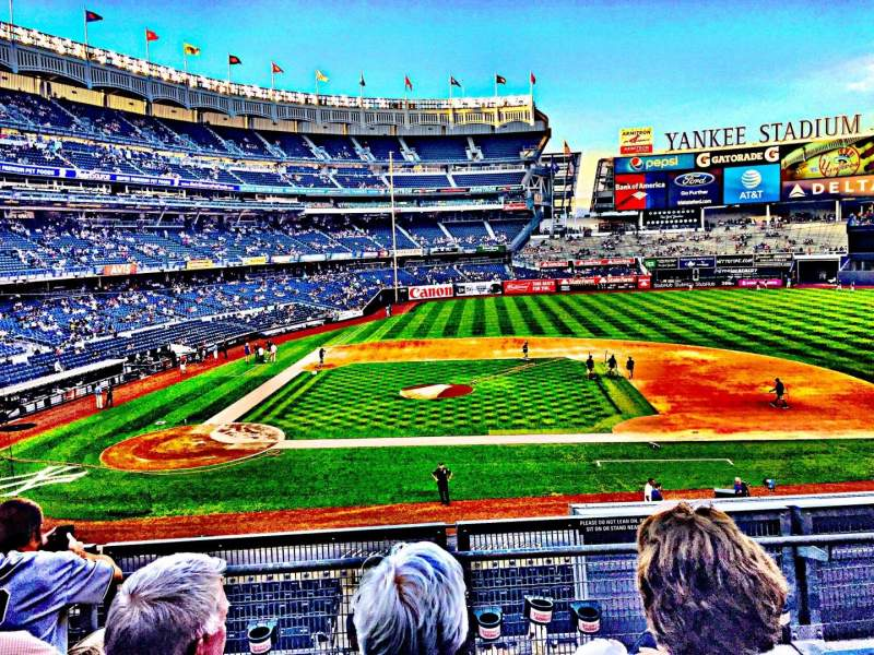 Seating view for Yankee Stadium Section 116 Row 4 Seat 13
