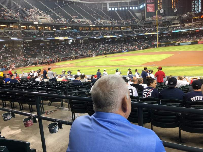 Seating view for Chase Field Section 115 Row 22 Seat 7