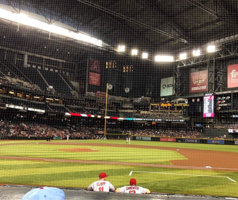 Seating view for Chase Field Section E Row 9 Seat 5