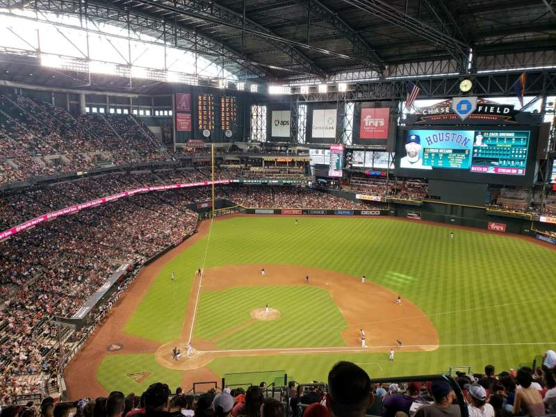 Seating view for Chase Field Section 312 Row 22 Seat 1