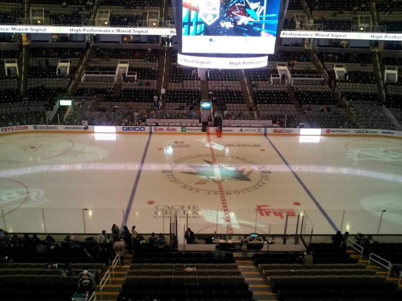 Seating view for SAP Center Section 215 Row 1 Seat 21