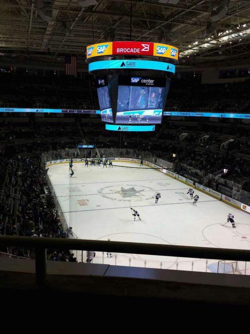 Seating view for SAP Center Section 210 Row 2 Seat 7